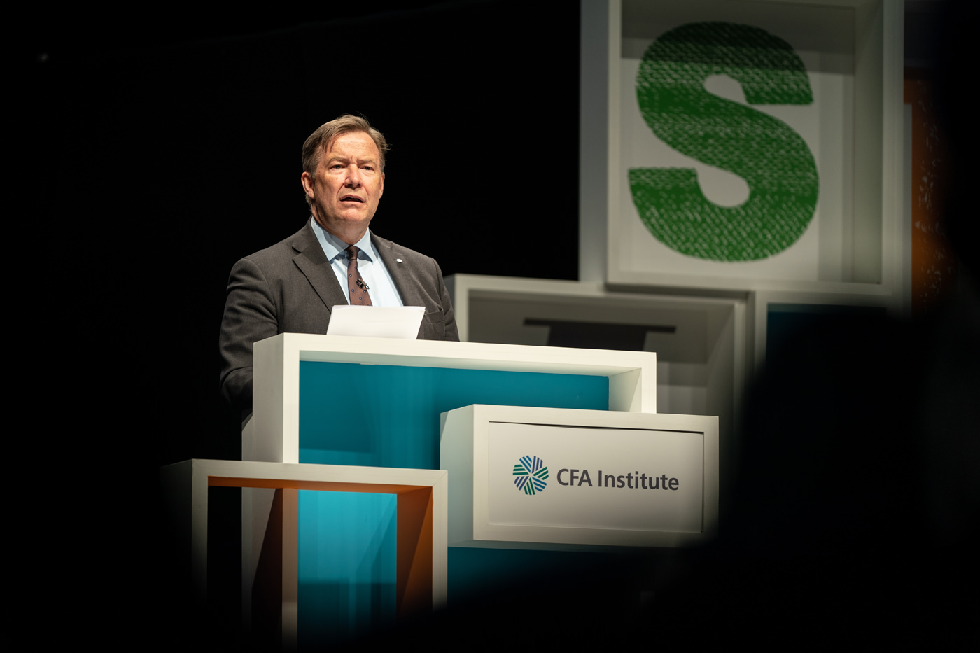 Gary Baker opens the CFA Institute Annual Conference 2019 at ExCel London