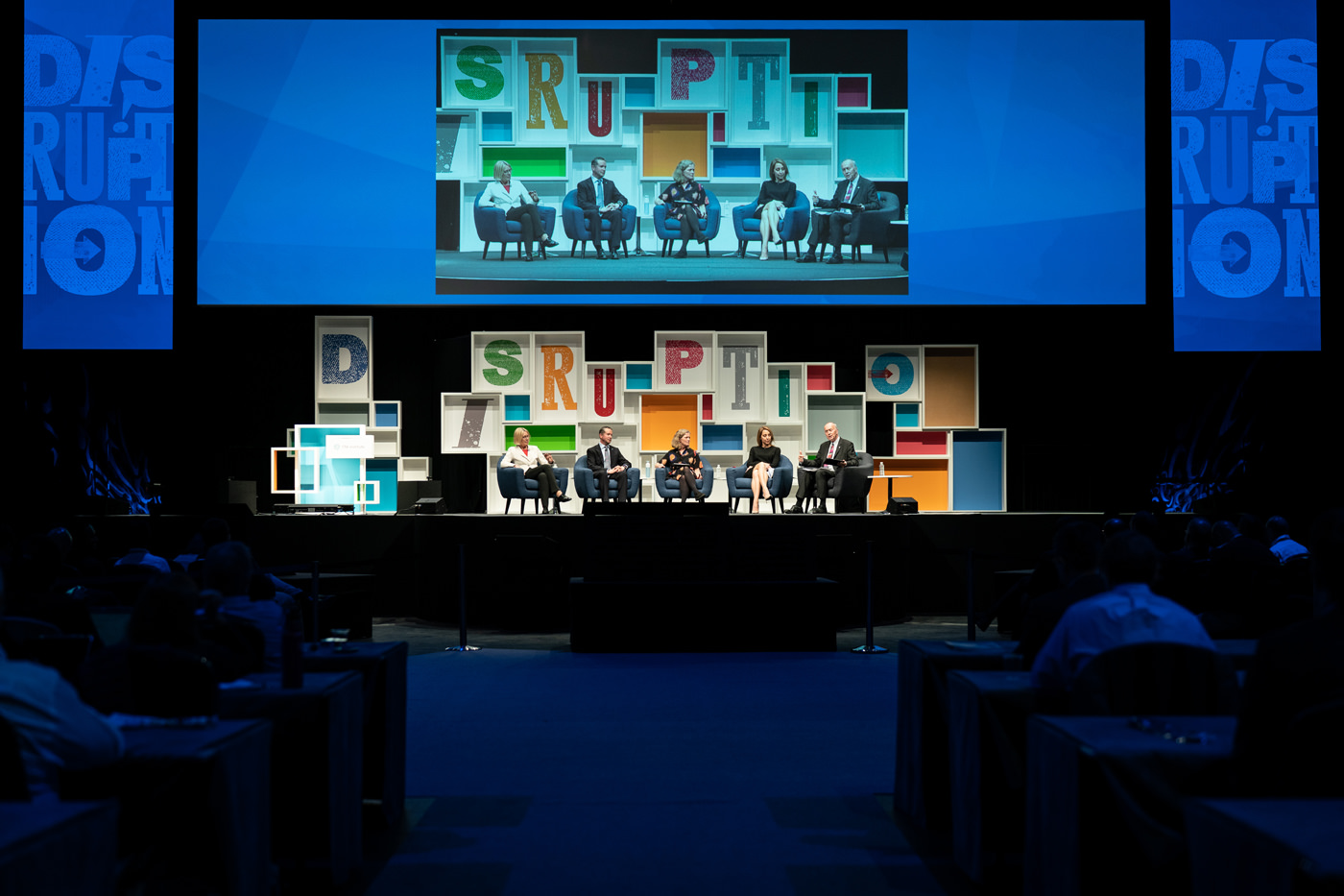 A Q&A session at the CFA Annual Conference at the ICC Auditorium ExCel London