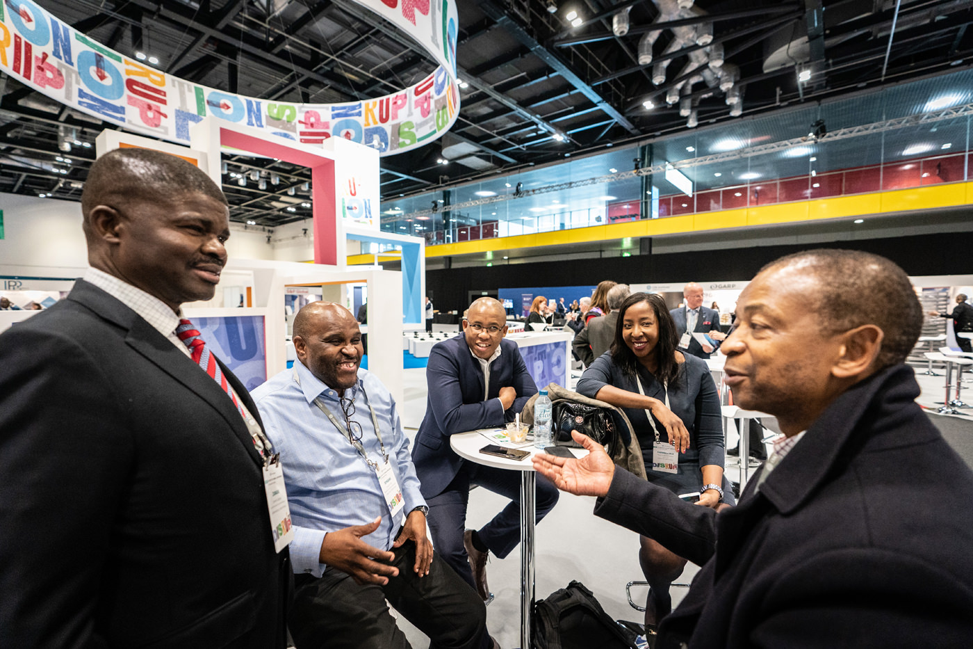Delegates network at the CFA Conference in the Capital Hall at ExCel London