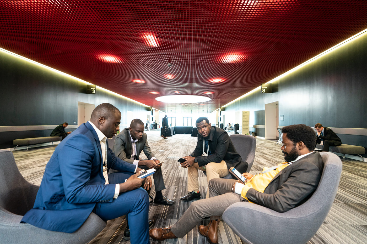 Delegates network between sessions at the CFA Conference in the Capital Suites ExCel London